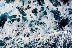De fosforescerende achtergrond van golvenbellen, natuurlijke achtergrond Royalty-vrije Stock Foto