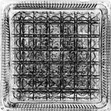 De foto als beeld, textuur wordt verwerkt is zwart-wit, vierkant dat stock afbeelding