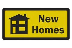 ?De foto realistisch teken nieuw van Huizen? Royalty-vrije Stock Afbeelding