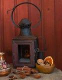 de foto schildert een oude lantaarn af Stock Foto's