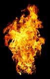De foto van de brand op een zwarte achtergrond royalty-vrije stock foto