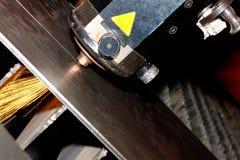 De foto van de close-up van de industriële laser Royalty-vrije Stock Afbeelding