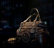 De foto van de close-up van een handtas Stock Fotografie