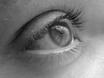 De foto van de close-up van een oog Royalty-vrije Stock Afbeeldingen