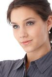 De foto van de close-up van het mooie gezicht glimlachen Royalty-vrije Stock Foto