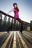 De foto van de manier van meisje op de straat Royalty-vrije Stock Afbeelding
