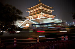 De Klokketoren van Xi'an, China Stock Afbeelding