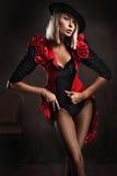 De foto van de stijl van een jonge blonde royalty-vrije stock fotografie