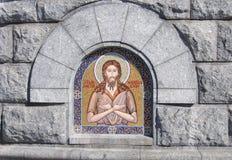 Muurschildering. Kathedraal van Christus de Verlosser, een fragment Royalty-vrije Stock Foto