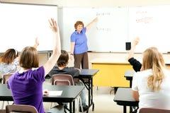 De Foto van de voorraad van de Klasse van de Algebra van het Onderwijs Stock Afbeeldingen
