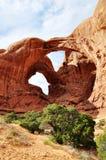 De Foto van de voorraad van de Rode Vorming van de Rots, het Nationale Park van Bogen Stock Afbeelding