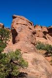 De Foto van de voorraad van de Rode Vorming van de Rots, het Nationale Park van Bogen royalty-vrije stock foto