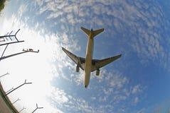 De foto van de voorraad van een vliegtuig Stock Afbeelding