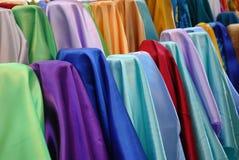 De foto van de voorraad van kleurrijke stof Stock Fotografie