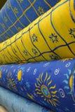 De foto van de voorraad van kleurrijke textiel Royalty-vrije Stock Afbeeldingen