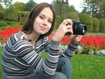 De foto van de vrouw stock fotografie