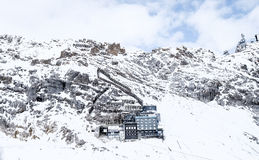 De foto van de Zugspitzereis - de hoogste piek van Germany's Royalty-vrije Stock Fotografie