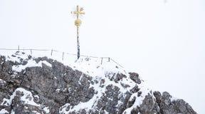 De foto van de Zugspitzereis - de hoogste piek van Germany's Stock Foto's