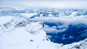De foto van de Zugspitzereis - de hoogste piek van Germany's Royalty-vrije Stock Afbeeldingen