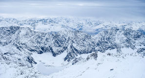 De foto van de Zugspitzereis - de hoogste piek van Germany's Stock Fotografie