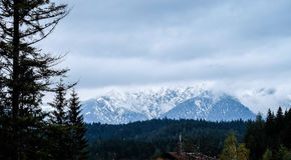 De foto van de Zugspitzereis - de hoogste piek van Germany's Stock Foto