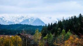 De foto van de Zugspitzereis - de hoogste piek van Germany's Royalty-vrije Stock Foto