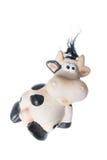 De foto van Fanny van zwart-wit koestuk speelgoed Stock Afbeeldingen