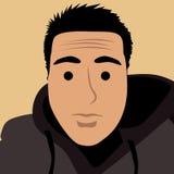 De foto van het beeldverhaalgezicht selfie vector illustratie