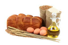 De foto van het Brood van het ei etude. Royalty-vrije Stock Foto's
