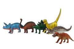 de foto van het dinosaurussenspeelgoed Stock Afbeeldingen