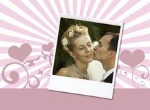 De foto van het huwelijk stock afbeelding