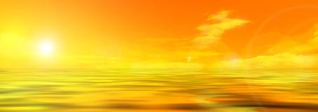 De foto van het panorama van hemel en overzees royalty-vrije illustratie