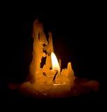 De foto van kaars glanste met eigen vlam Royalty-vrije Stock Afbeeldingen