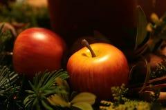 De foto van Kerstmis - appel Royalty-vrije Stock Fotografie