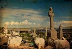 De foto van oude begrafenis garve situeert ten westen van Ierland Royalty-vrije Stock Foto's