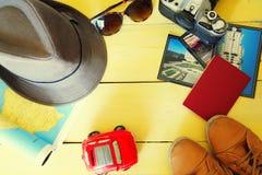 De foto van reistoebehoren Stock Foto's