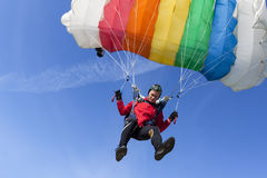 De foto van Skydiving. Stock Foto's