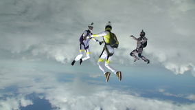 De foto van Skydiving stock video