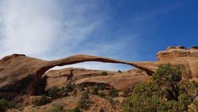De Foto van de voorraad van de Rode Vorming van de Rots, het Nationale Park van Bogen royalty-vrije stock fotografie