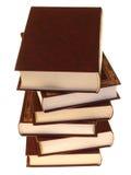 Opgestapelde oude boeken royalty-vrije stock afbeeldingen