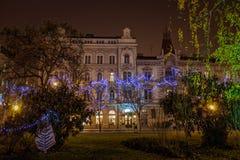 De foto van Zagreb in Komsttijd die wordt geschoten Stock Afbeelding