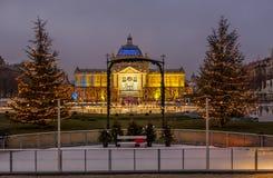 De foto van Zagreb in Komsttijd die wordt geschoten Royalty-vrije Stock Afbeeldingen