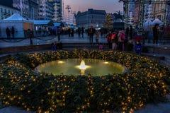 De foto van Zagreb in Komsttijd die wordt geschoten Stock Afbeeldingen