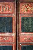 De foto verouderde houten kabinet Royalty-vrije Stock Afbeeldingen