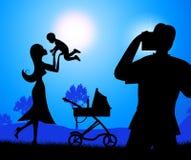 De fotobaby vertegenwoordigt Fotografenkereltje en Pasgeboren Royalty-vrije Stock Afbeelding
