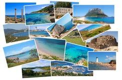 De fotocollage van de reis Stock Foto