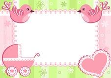 De fotoframe van de baby met vogels. vector illustratie