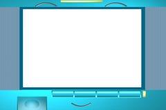 De fotoframe van de televisie Stock Fotografie