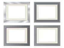 De fotoframes van het metaal Royalty-vrije Stock Afbeeldingen