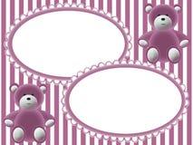 De fotoframes van kinderen met beren Stock Afbeeldingen
